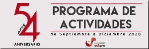 Programa de Actividades de Septiembre a Diciembre 2020